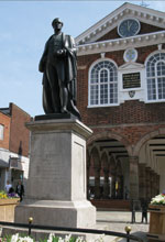Town Hall and Sir Robert Peel statue